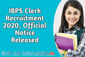 IBPS Clerk Notification 2020 Out